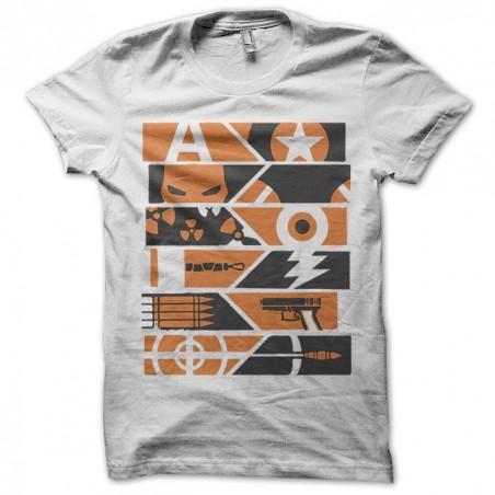 Avenger party orange white sublimation t-shirt