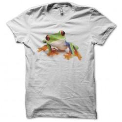T-shirt frog arboricole colorful white sublimation