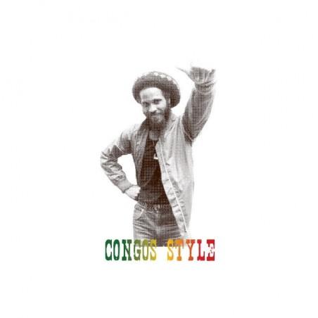 The Congos Style halftone artwork white sublimation t-shirt