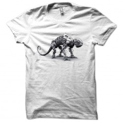 white sublimation robotcaméléon t-shirt