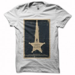 Cowboys and aliens white sublimation t-shirt