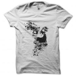 Jax Teller gunshot T-shirt Sons of Anarchy white sublimation