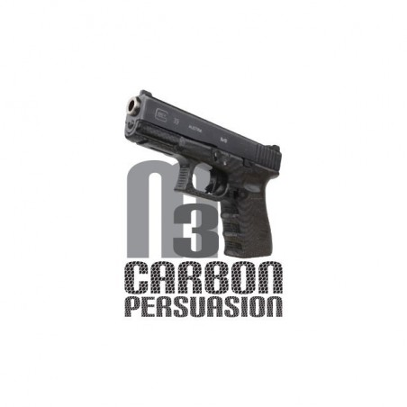 Handgun Glock M3 carbon persuasion white sublimation t-shirt