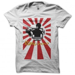 Bruce Lee off-screen t-shirt Kung Foo japanese rays white sublimation