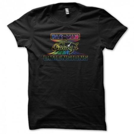 Tee shirt Pac Man & Galaga Dimensions arcenciel black sublimation