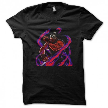 Akuma character t-shirt of the street fighter game in black sublimation