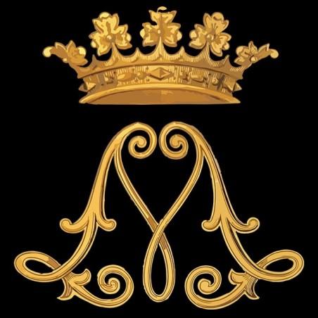 Crown black sublimation t-shirt