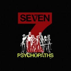 7 psychopaths mix art black sublimation tee shirt