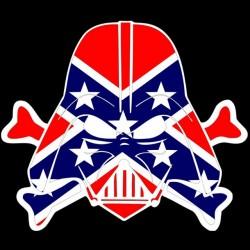 Tee shirt drapeau confédéré avec dark vador le pirate  sublimation