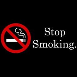 Tee shirt arrêter de fumer...