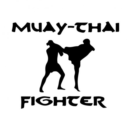 Muay thai fighter white sublimation t-shirt