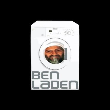 Bin Laden Washing Machine T-Shirt black sublimation