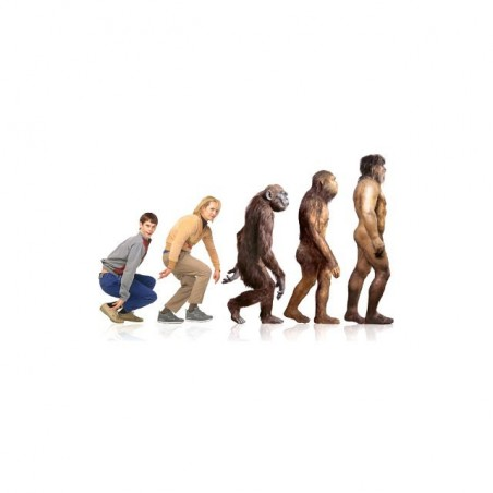 Dumb & Dumberevolution homo sapiens white sublimation t-shirt