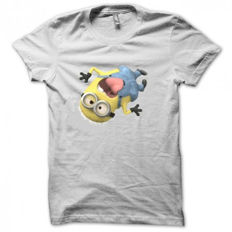 Tshirt Me Ugly and Naughty Mr. Minion White Sublimation