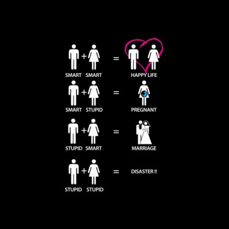 T-shirt probable combinations of couples black sublimation