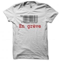 Shirt In greve bar code czech white sublimation