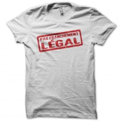 Not really legal white sublimation t-shirts