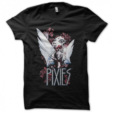 Pixies t-shirt angels and roses black sublimation