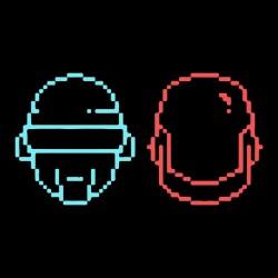 Tee shirt Daft Punk les casques minimalistes  sublimation