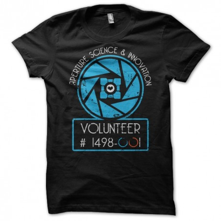 Aperture science and innovation t-shirt black sublimation