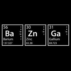 BaZnGa black chemist sublimation t-shirt