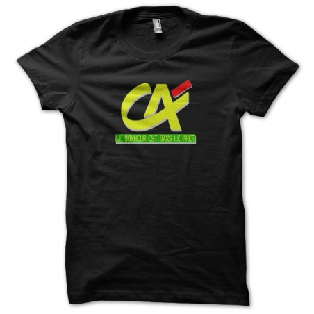 CA t-shirt, Happiness is in black sublimation