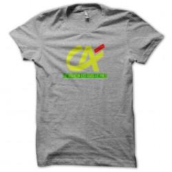Tee shirt le bonheur est dans la prêt du crédit agricole gris sublimation