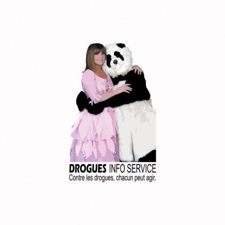 T-shirt Chantal Goya Drogues Info Service white sublimation