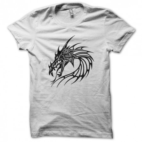 Tattoo shirt black dragon in white sublimation