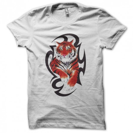 Asian tiger tattoo t-shirt white sublimation