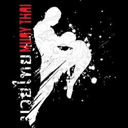 Muay Thai artistic black sublimation t-shirt