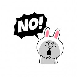 Saying rabbit agape Say NO white sublimation t-shirt