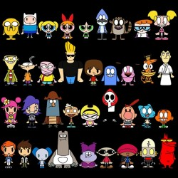 Cartoon Network t-shirt black sublimation