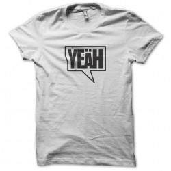 Yeah style street art white sublimation t-shirt