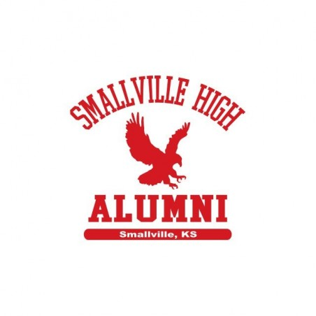 Smallville High Football US College sublimation white t-shirt