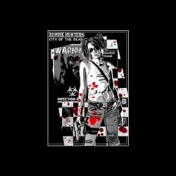 Zombie Hunter City of the dead black sublimation t-shirt