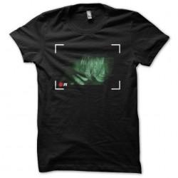 Tee shirt Rec framing camera black sublimation
