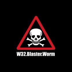 W32 Blaster Worm black...