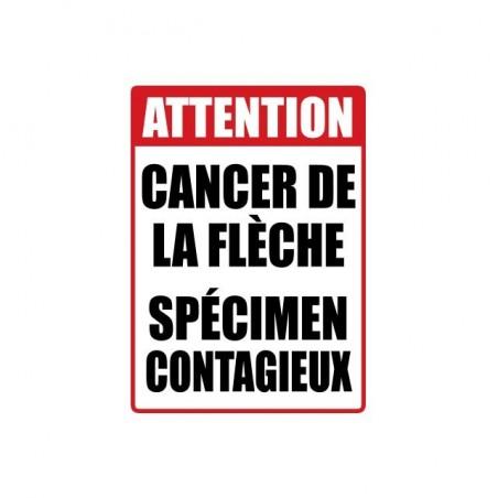 T-shirt sign Caution Arrow Cancer Contagious specimen white sublimation