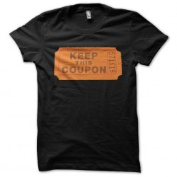 Keep it Coupon black sublimation t-shirt