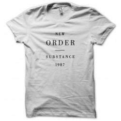 New order Substance Joy division white sublimation t-shirt