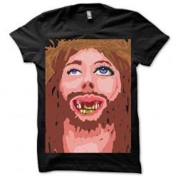 Praise Jebus black sublimation t-shirt