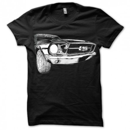 Ford mustang 3.4.NB black sublimation t-shirt