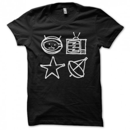 T-shirt U2 Zoo TV symbols black sublimation