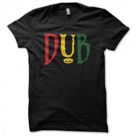 T-shirt Dub green yellow red skull black sublimation