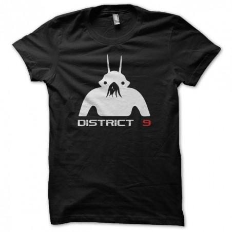 District 9 silhouette pictogram black sublimation t-shirt