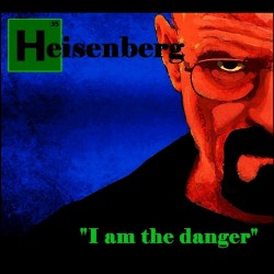 tee shirt Breaking Bad with Heisenberg watercolor black sublimation
