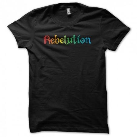 Rebelution rainbow black sublimation t-shirt