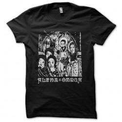 Alpha and Omega black crib sublimation t-shirt