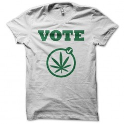 Tee shirt cannabis vote...